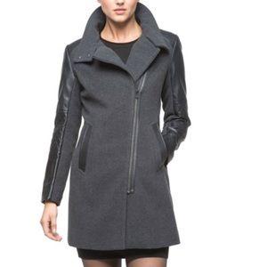 "Marc New York ""Adele"" Long Wool Blend Coat Sz14"